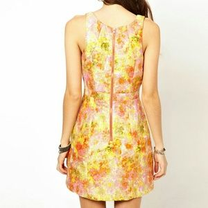 Free People Dresses - New Free People Rose Brocade Floral Dress sz 4